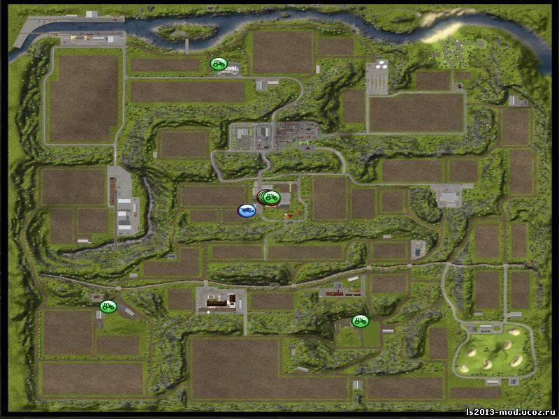 карты для farming simulator 2013 горошина