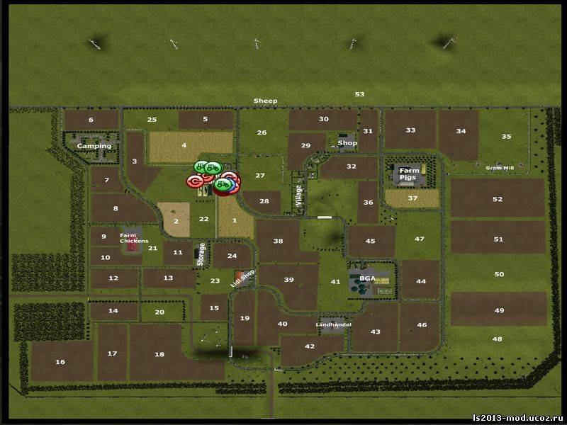 карты для farming simulator 2013 горошина